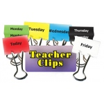 Days Of The Week Teacher Clips 6pk 2in