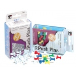 Push Pins Assorted Colors 100/box