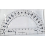 Protractor 6in 180 Degree Clear