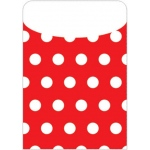 Brite Pockets Red Polka Dots 25/bag Peel & Stick