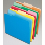 Oxford 100ct Assort Color Top File Folders