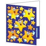Pocket Folder Look To The Stars Plastic Coated 8-1/2 X 11
