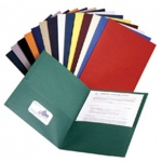 Twin Pocket Portfolios 25/box Asstd Colors