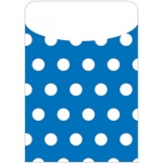 Brite Pockets Blu Polka Dots 25/bag Peel & Stick