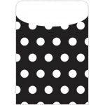 Brite Pockets Blk Polka Dots 25/bag Peel & Stick