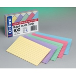 Assorted Ruled Commercial 100 Ct Index Cards 3 X 5