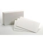 Ruled Index Cards 10pks/100ea 3x5 White