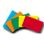 Index Cards 4x6 Lined 75 Ct Brite Assorted