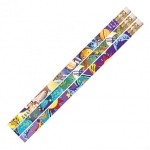 Galaxy Galore 12pk Motivational Fun Pencils