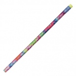 Decorated Pencils Tie Dye Glitz 1dz Asst