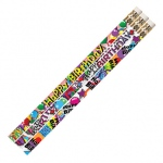 Birthday Supreme 12pk Motivational Fun Pencils