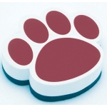 Magnetic Whiteboard Eraser Maroon Paw