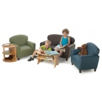 Brand New World Enviro-Child Upholstery Toddler Chair: Sage