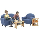 Brand New World Enviro-Child Upholstery School Age Chair: Blue