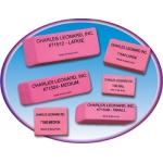 12/bx Synthetic Pink Wedge Erasers Large