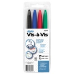 Marker Set Vis A Vis 4 Color Fine Red Blue Green Black