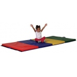 Early Childhood Tumbling Mat: 4' x 6', 4 Section