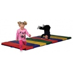 Early Childhood Tumbling Mat: 4' x 8', 4 Section