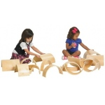 ECR4Kids Wooden Tunnels & Arches, 20-Piece Set