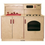 Early Childhood Birch 4-In-1 Play Kitchen Center