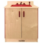 Early Childhood Play Kitchen Sink: Birch