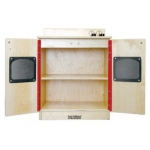 Early Childhood Play Kitchen Stove: Birch