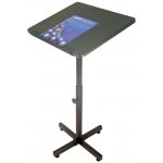 "Luxor Adjustable Height Lectern: Dark Gray, 33"" - 47.5"""