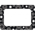 Black/white Crazy Circles Name Tags Labels