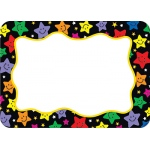 Happy Stars Name Tags Labels