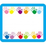 Name Tags Handprints 40/pk Self-Adhesive