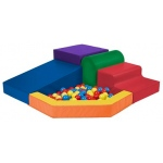 Early Childhood Softzone Primary Climber with Ball Pool
