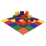 Early Childhood Patchwork Toddler Mat & Toddler Blks-Prim