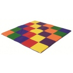 ECR4Kids SoftZone Patchwork Toddler Mat - Primary