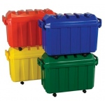 ECR4Kids Stackable Storage Trunk - Assorted 4 Piece