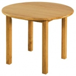 "Early Childhood 30"" Round Hardwood Table: 22"" Legs"
