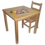 "Early Childhood 24"" Square Hardwood Table: 18"" Legs"