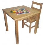 "Early Childhood 30"" Square Hardwood Table: 18"" Legs"