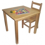 "Early Childhood 30"" Square Hardwood Table: 22"" Legs"