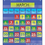 Calendar Dates Pocket Chart Add Ons 2 Colored Sets Of Dates