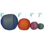 "Mesh Covered Foam Balls: 8"", Set of 6"
