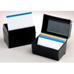 Oxford Plastic Index Card Box 3x5