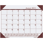 Academic Ecotones Desk Pad Cream Paper Brown Holder