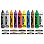Crayons In English & Spanish Flannelboard Set