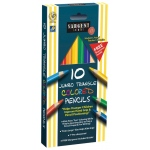 Easy Grip Triangle Colored 10-Set Pencils Pre-Sharpened